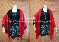 The Avengers Wanda Maximoff Scarlet Witch Cosplay costume with red cloak