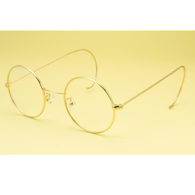 559f8710a086f 60 s 44mm Rodada Do Vintage óculos de Aro Cheio de Armações de óculos de Aro