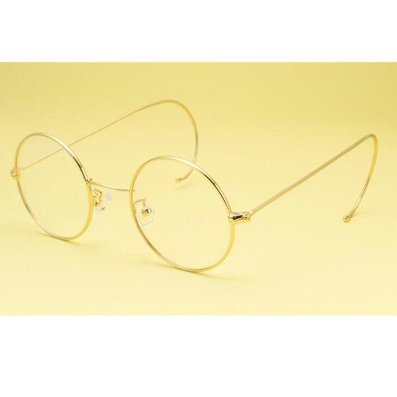 60 s 44mm Vintage redondo llanta completa marcos de gafas de alambre John Lennon Steve Jobs Harry Potter gafas Rx able