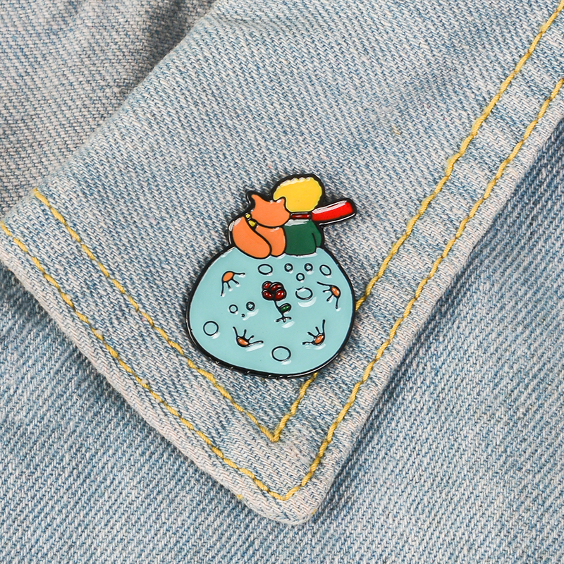 Don't be a boring adult ! Le Petit Prince B-612 Planet The Little Prince Fox Rose Classical Fairy Tale Hard Enamel Brooch Pin 4