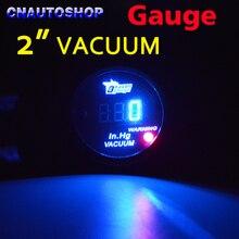 Dragon Gauge 2″ 52mm Vacuum in Hg Car Gauge Digital Display 12V LED Meter Black Shell