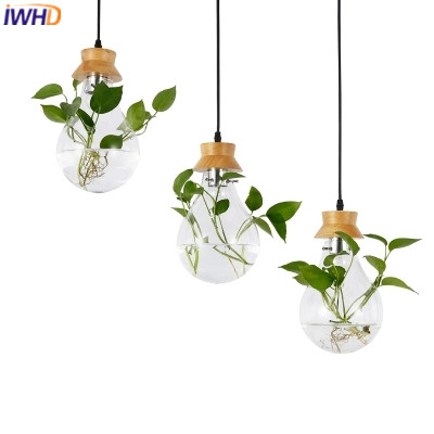 IWHD Glass Hanglamp LED Pendant Lamp Lights Modern Wood Pendanting Light Fixtures Creative Kitchen Dining Lampara Luminaire iwhd led pendant light modern creative glass bedroom hanging lamp dining room suspension luminaire home lighting fixtures lustre