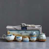 TANGPIN ceramic teapot with 4 cups japanese tea sets portable travel tea sets drinkware