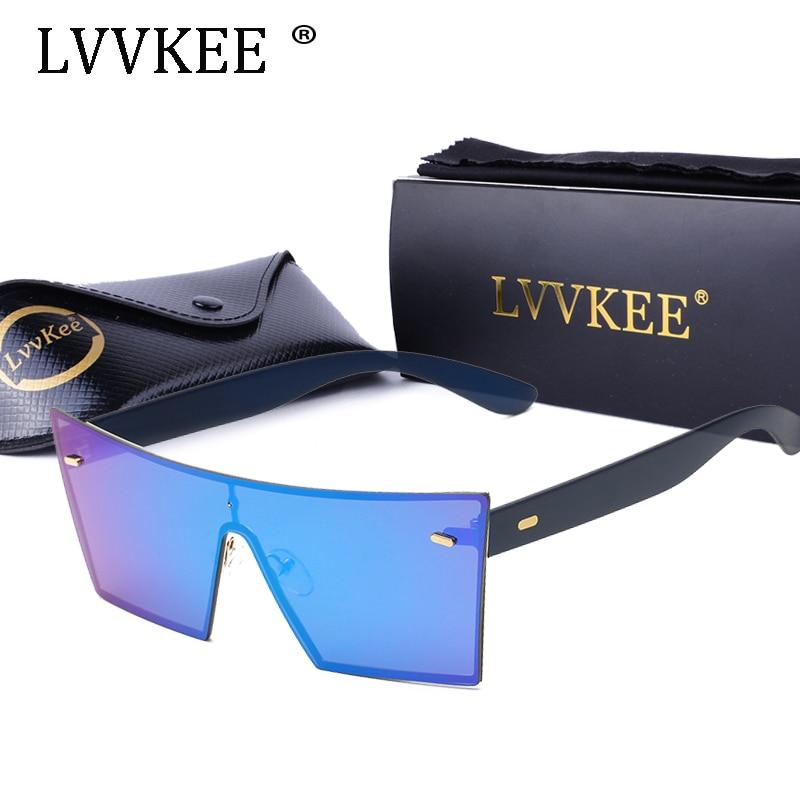4fbd9c7f3ff61 2017 Luxo quadrado óculos de sol da moda mulheres designer de marca de  metal neutro celebridade grande frameless óculos de sol homens steampunk