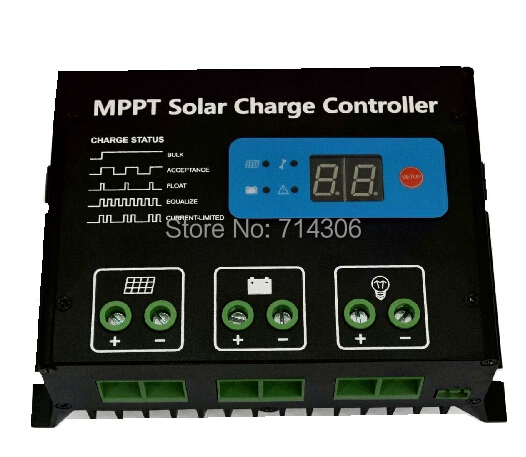 LCD Automatic identification of MPPT solar panel controller 12 v24v efficient household battery charger energy efficient system for solar panel