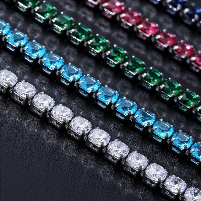 Cubic Zirconia Tennis Bracelets Iced Out Chain Crystal Wedding Bracelet 3