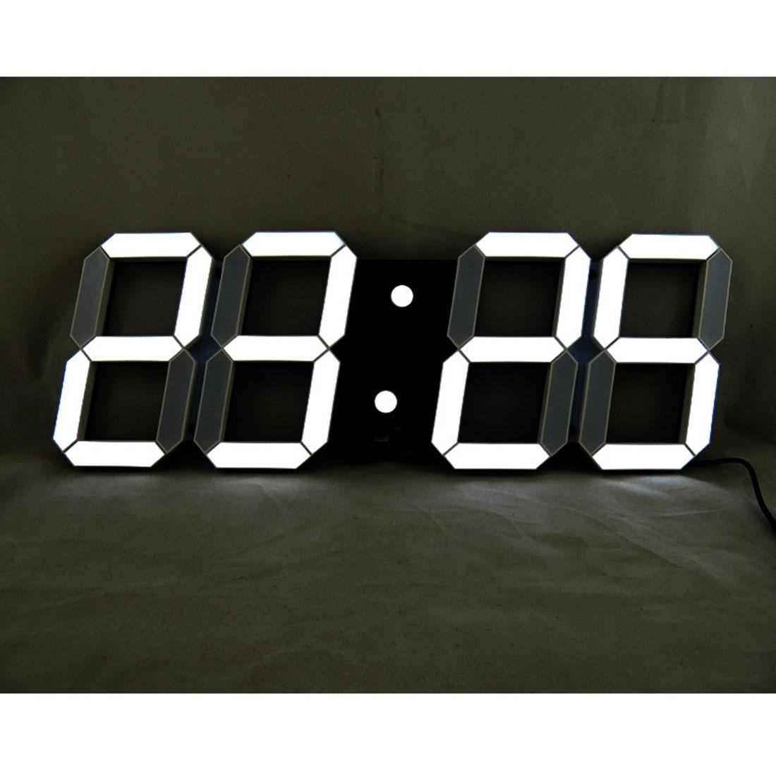 3D LED Numérique Horloges Murales 24 Heures Affichage Luminosité Dimmable Veilleuse Snooze Fonction pour La Maison Cuisine Bureau
