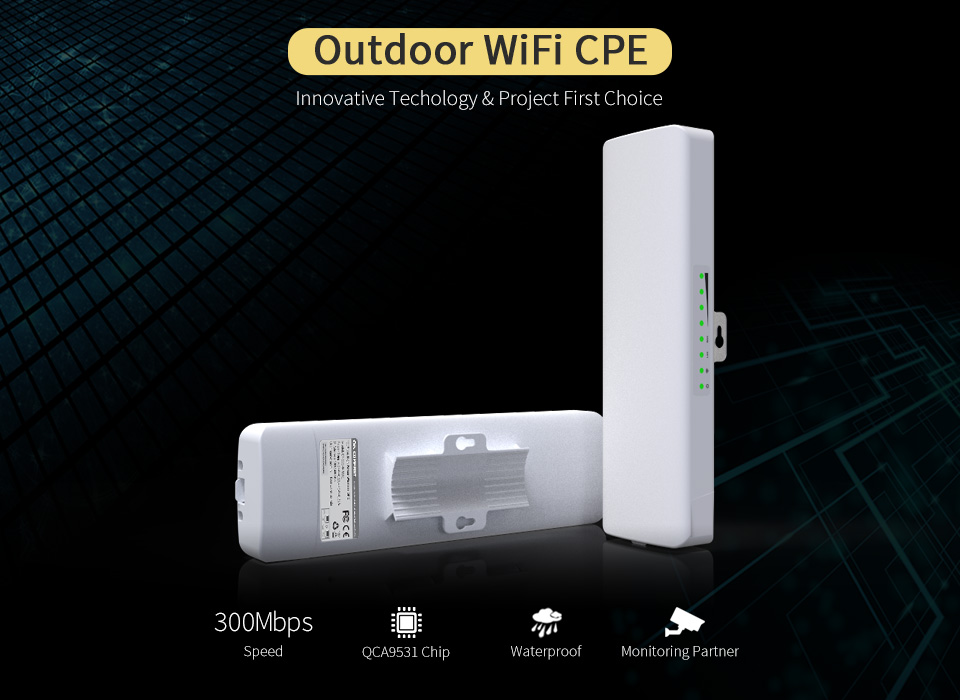 QCA9531 COMFAST Outdoor CPE wireless Router AP 300mbp Wifi Access Point Router Wi Fi Repeater Wifi Amplifier Rj45 point to point 2018 1200mbps comfast gigabit wifi repeater router access point wifi range extender 2 3dbi antennas 5 8ghz wi fi signal amplifer