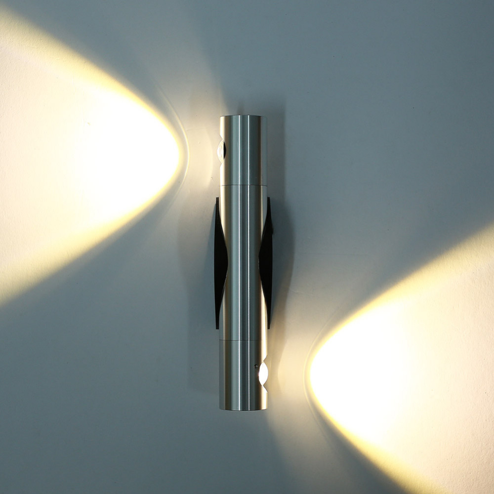 6w23w angle adjustable 2 led wall sconce light fixture hardwired ambient lighting fixtures