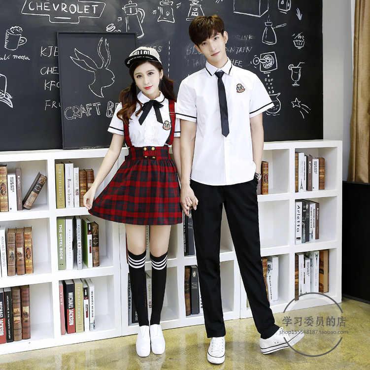 56e0a715a7 ... Hot Korean School Uniform Girls Jk Navy Sailor Suit For Women Japanese  School Uniform Cotton White ...