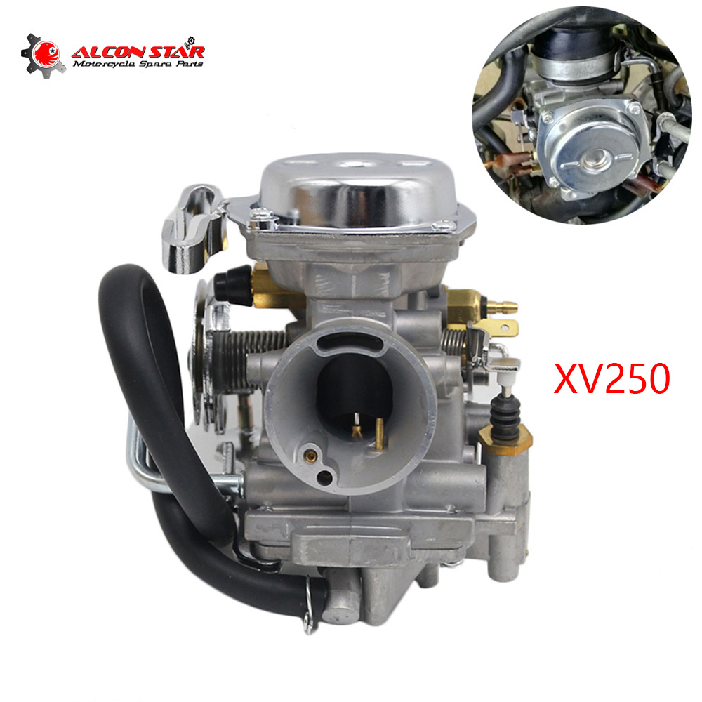 Alconstar 26mm Motorcycle Carburetor Aluminum Alloy  Scooter Carb For Yamaha Virago XV250 Route 66 Virago XV125 V star 250-in Carburetor from Automobiles & Motorcycles    1