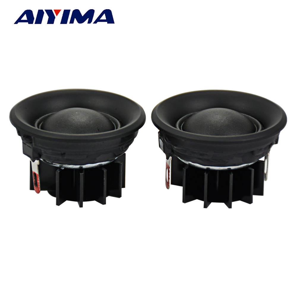 AIYIMA 2Pcs 1.5Inch HIFI Audio Portable Speakers 6ohm 10W Stereo Tweeters Speaker Silk Film Louderspeaker Horn for Home Theater