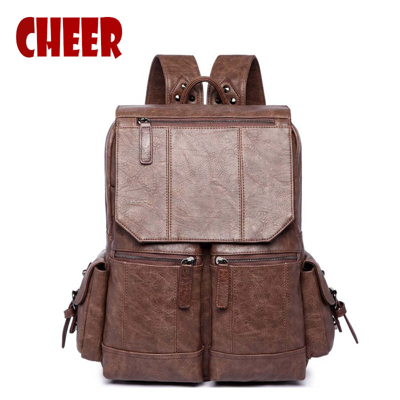 fashion backpacks high quality men backpacks for men and women big capacity pu leather zipper Bags famous brand designer luxury цена