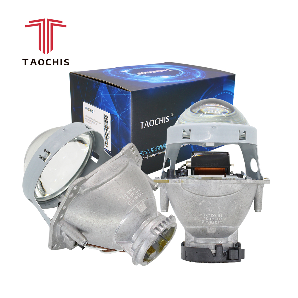 TAOCHIS 2pcs Auto Car Headlight 3.0 inch Bi-xenon Hella 3R G5 5 Projector lens Car styling Retrofit head light Modify D2s