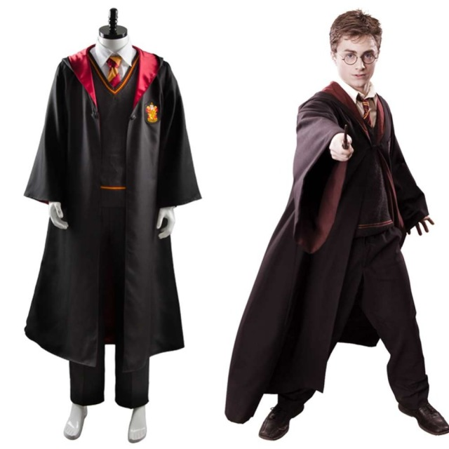 gryffindor robe uniform cosplay costume adults halloween carnival costume party costume for women men full set