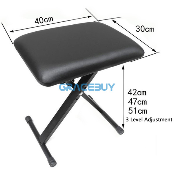 Aliexpress.com  Buy Black Pro X Frame Keyboard Bench Foldable Piano Stool Seat Adjustable Height Stand Electric Piano Chair New from Reliable chair favor ...  sc 1 st  AliExpress.com & Aliexpress.com : Buy Black Pro X Frame Keyboard Bench Foldable ... islam-shia.org