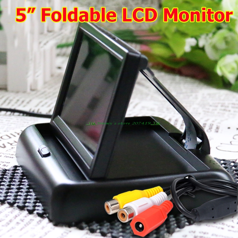 5 Car Rear View System Foldable TFT Color LCD Car Reverse Rearview 16 9 Car Security