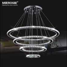 LED Crystal Chandelier Light Modern Circle Lamp Hanging Lustre 90-260V Ring Lighting  modern home decoration