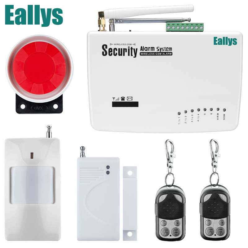 Promotion for Russian/English Voice Wireless GSM Alarm System Dual Antenna Alarm Systems Security Home Alarm with PIR detector gsm alarm system for home security system with wired pir door sensor dual antenna burglar alarm home alarm system signaling