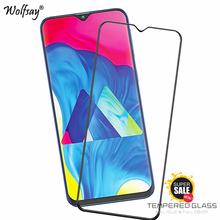 цена на 2PCS Full Glue Glass For Samsung Galaxy M10 Screen Protector Tempered Glass For Samsung Galaxy M10 Phone Glass For Samsung M10