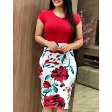 Vintage Elegant Floral Pencil Dresses
