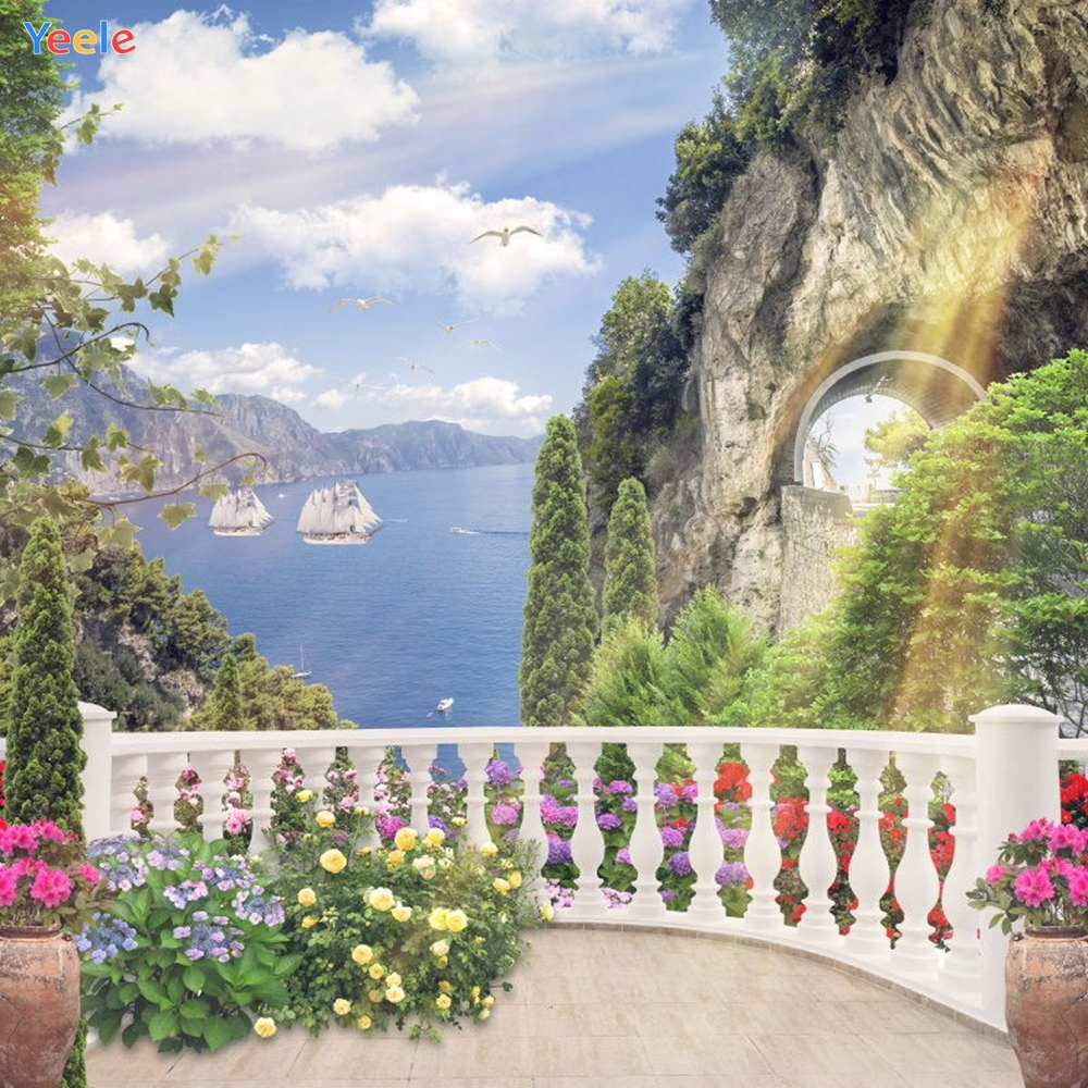 Yeele Photography Backdrops Landscape Flowers Fence Mount Lakes Wall Photographic Backgrounds Portrait Shoots For Photos Studio in Background from Consumer Electronics