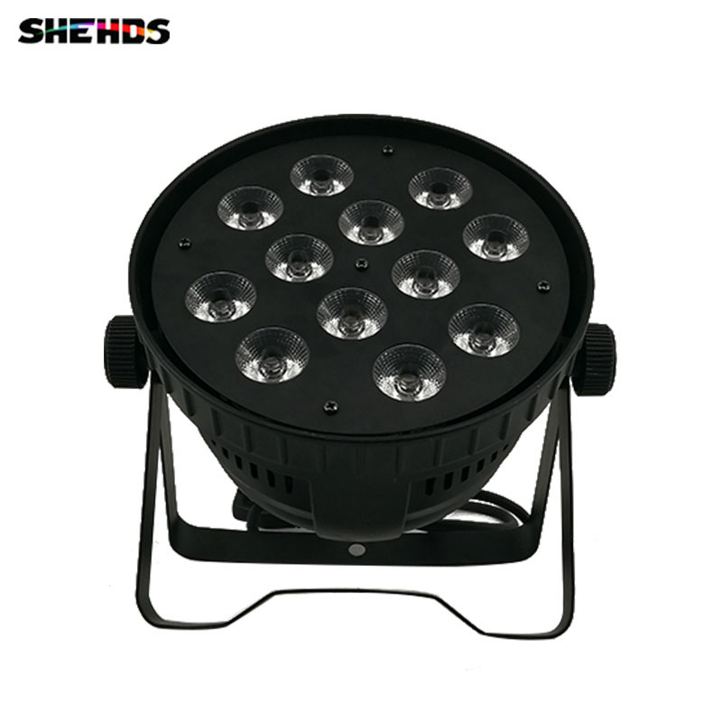 2pcslot LED Par 12x18W RGBWA+UV Lighting For Event KTV Disco Party Nightclub 6/10 DMX Channels Casting Aluminum ...