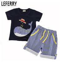 2017 New Summer Children Clothing Kids Clothes Baby Boy Summer Clothes Toddler Boys Clothing Set Jeans