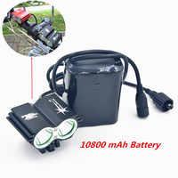 SolarStorm 2X XM-L U2 LED 5000Lm lampes de poche lampe frontale LED torche avec batterie + chargeur