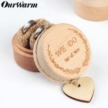 OurWarm Rustic Wood Ring Bearer Box Wedding Ring
