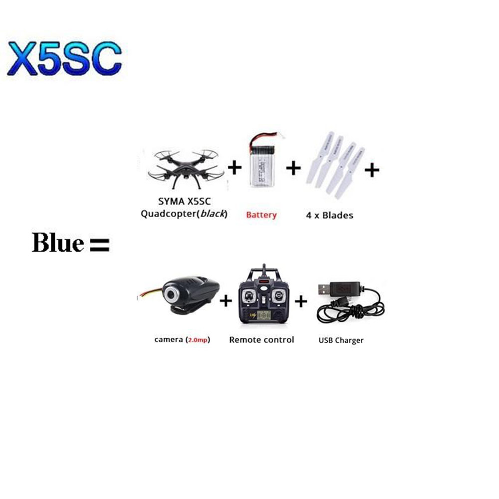 SYMA X5SW X5SC WI-FI RC квадролет с дистанционным управлением с видом от первого лица Квадрокоптер с HD Камера в режиме реального времени Радиоуправляемый вертолет, игрушки FSWB - Цвет: Синий