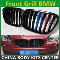 X1 e84 black abs front bumper grill for bmw x1 2010 2015 18i xDrive sDrive 20i 25i 28i 35i 16d 18d 20d