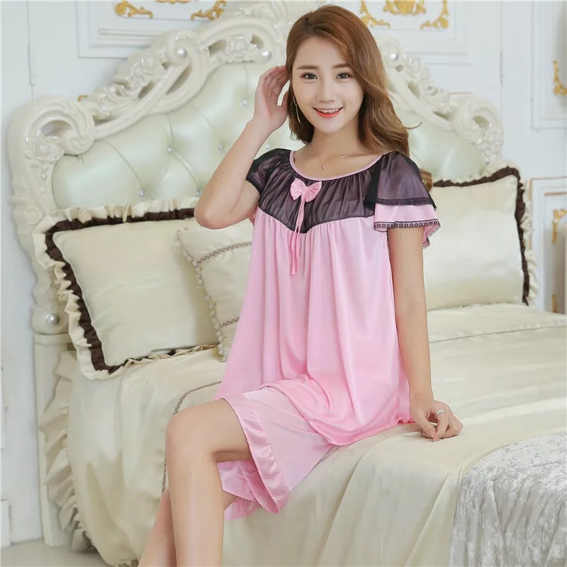2018 Sexy Sleepwear Women Cloth Summer Shorts Pajamas Set Sexy Satin Lingerie Nightgown Spaghetti Strap Sexy Pajamas