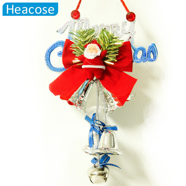 2017 cute christmas letter santa claus angle bell ornaments christmas tree decorations new year hanging ornament - Christmas Letter Decorations