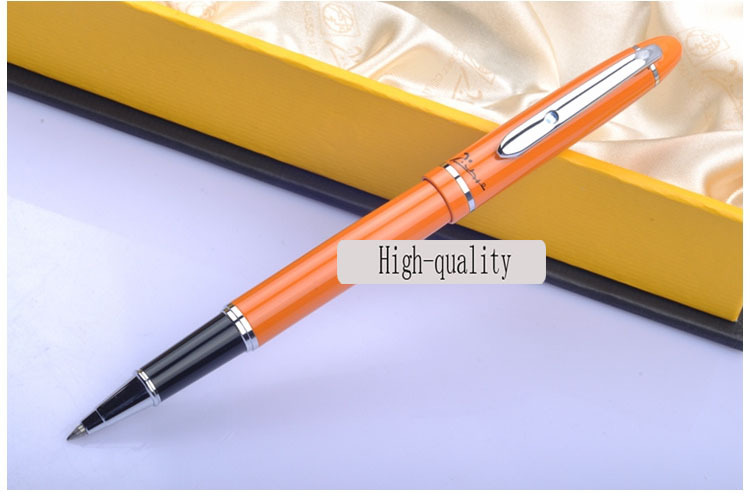 picasso Hot Sale ballpoint pen Beautiful Orange Lacquered With Silver Trim Roller ball Pen On Promotion YY02