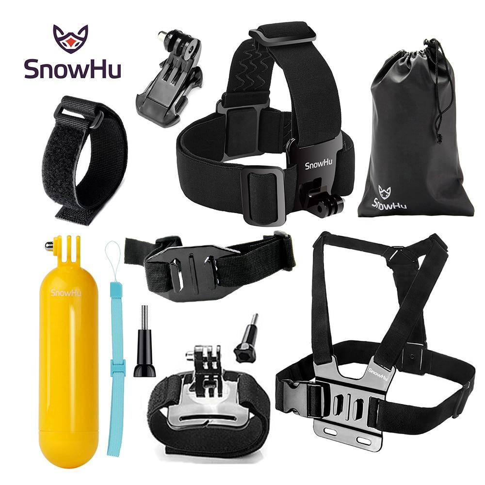 SnowHu para Gopro accesorios set para go pro hero 7 6 5 4 kit montaje para SJCAM SJ4000 para xiaomi para yi 4 K para eken h9 SG22
