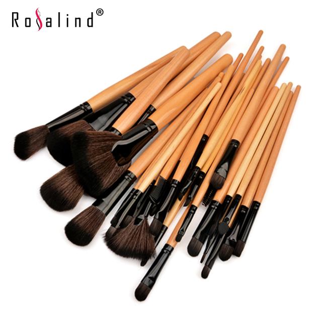 Rosalind 32 pcs pincéis de maquiagem novo 2015 professional beauty cosméticos make up set frete grátis