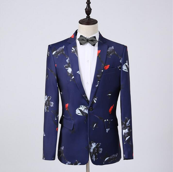 Printing Blazer Men Formal Dress Latest Coat Pant Designs Suit Men