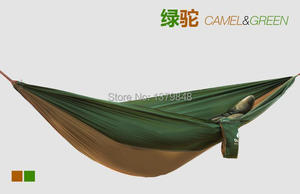 Image 5 - Double Hammock Camping Survival Hammock Parachute Cloth Portable Double Person Hammock  PARACHUTE HAMMOCK 260*140 CM