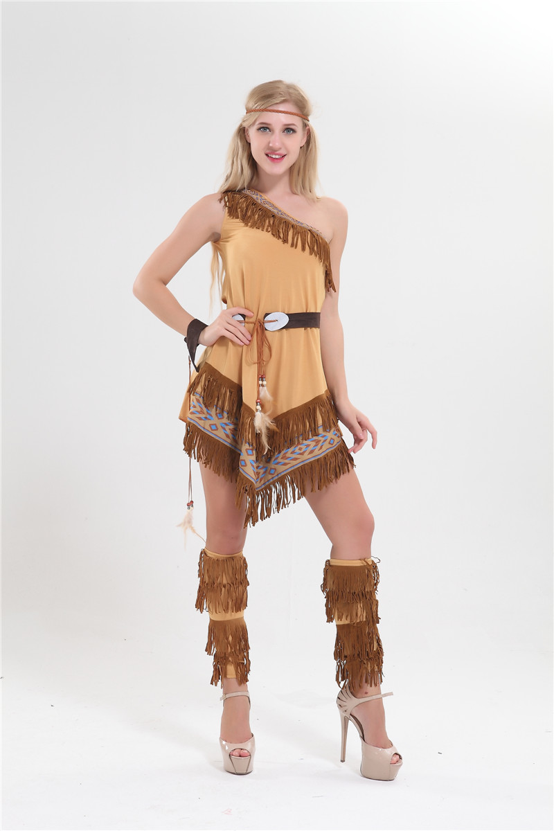 free shipping hot selling ladies sexy native american indian wild west fancy party costume halloween costume - Halloween Native American