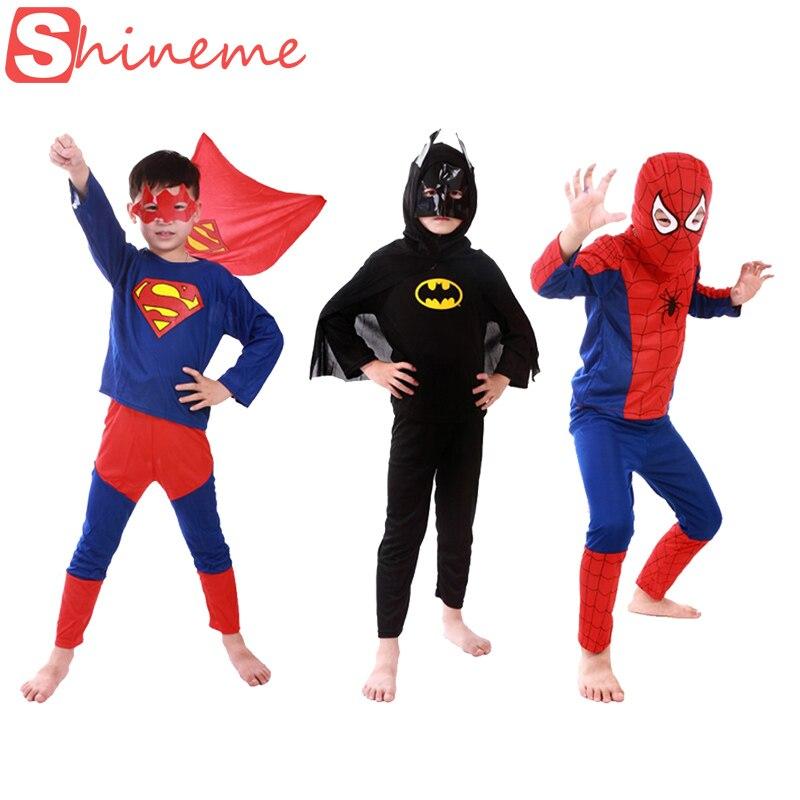 3 stili, bērni, mazulis, superhero, zirneklis, kalps, supermens, batman, zirneklis, cosplay, karnevāls, halloween, tērps, bērns, piederumi, dēļ, kids