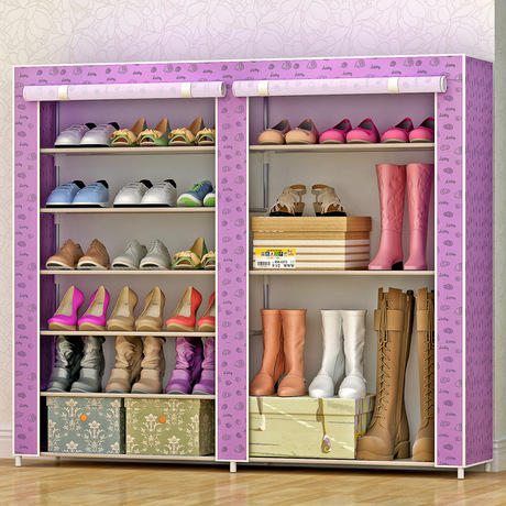 Shoe Cabinets Shoe Rack Home Furniture steel +non-woven fabric shoe organizer chaussure rangement schoenen rek hot 108*120*30cmShoe Cabinets Shoe Rack Home Furniture steel +non-woven fabric shoe organizer chaussure rangement schoenen rek hot 108*120*30cm