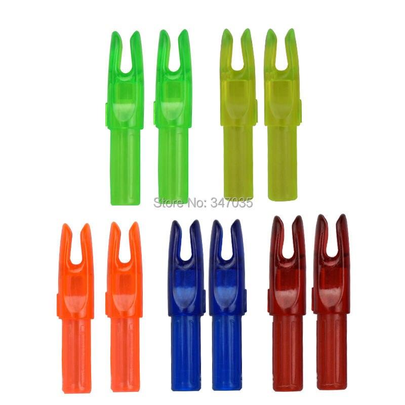 Peças de Plástico Tiro com Arco ao ar 2020 para Id6.2mm Amarelo Seta Nock Caudas Eixo Faça Você Mesmo Acessórios Caça Livre 100