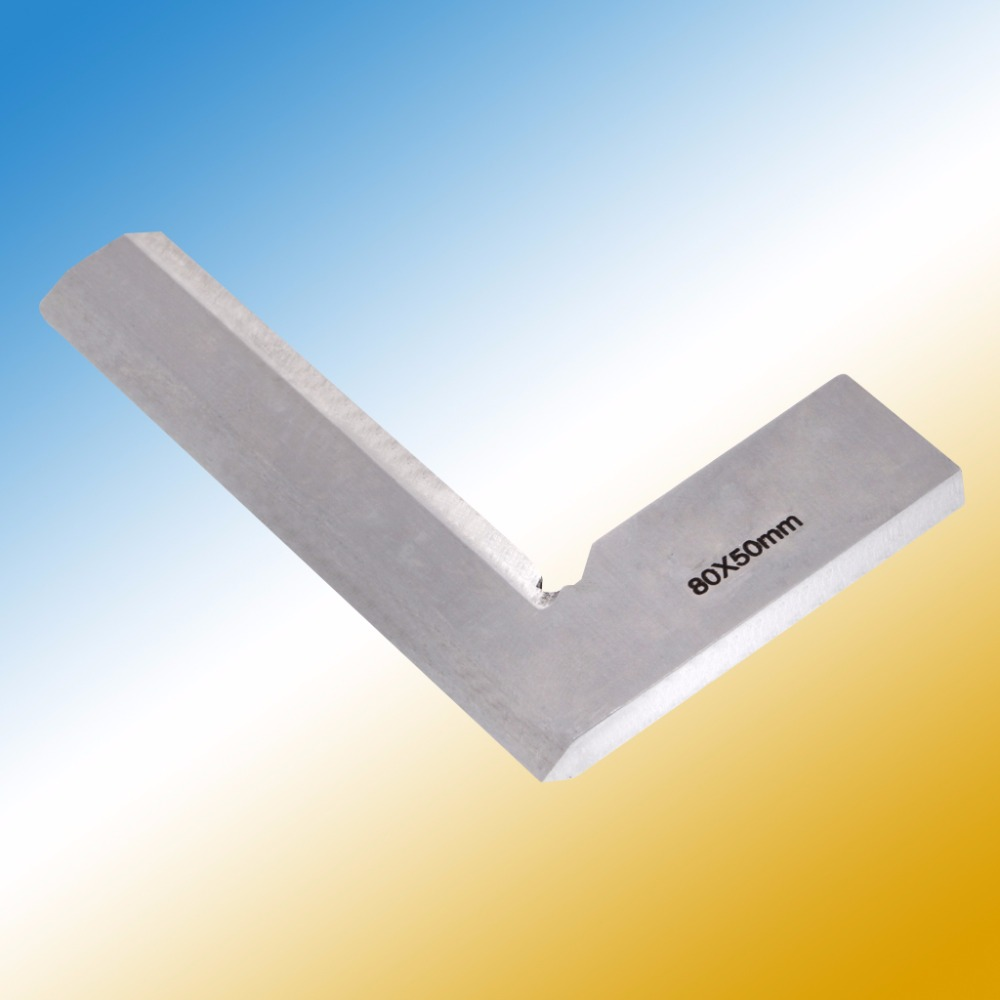 цена на 80*50mm Angle Square Broadside Knife-Shaped 90 Degree Angle Blade Ruler Gauge Blade Measuring Tool