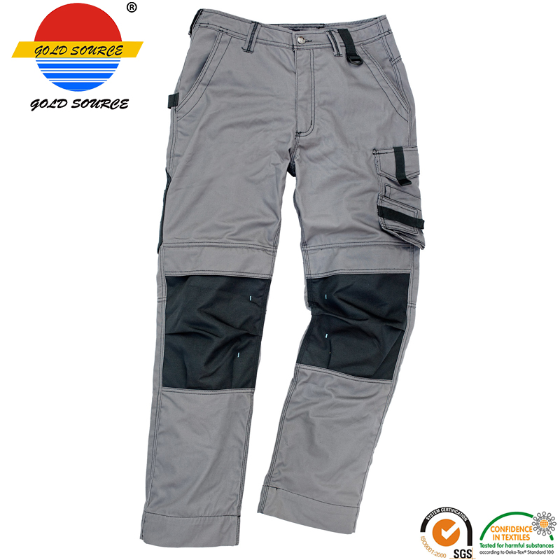 New Sale Premium Construction Work Trousers Grey Workwear Cargo Pants For Men