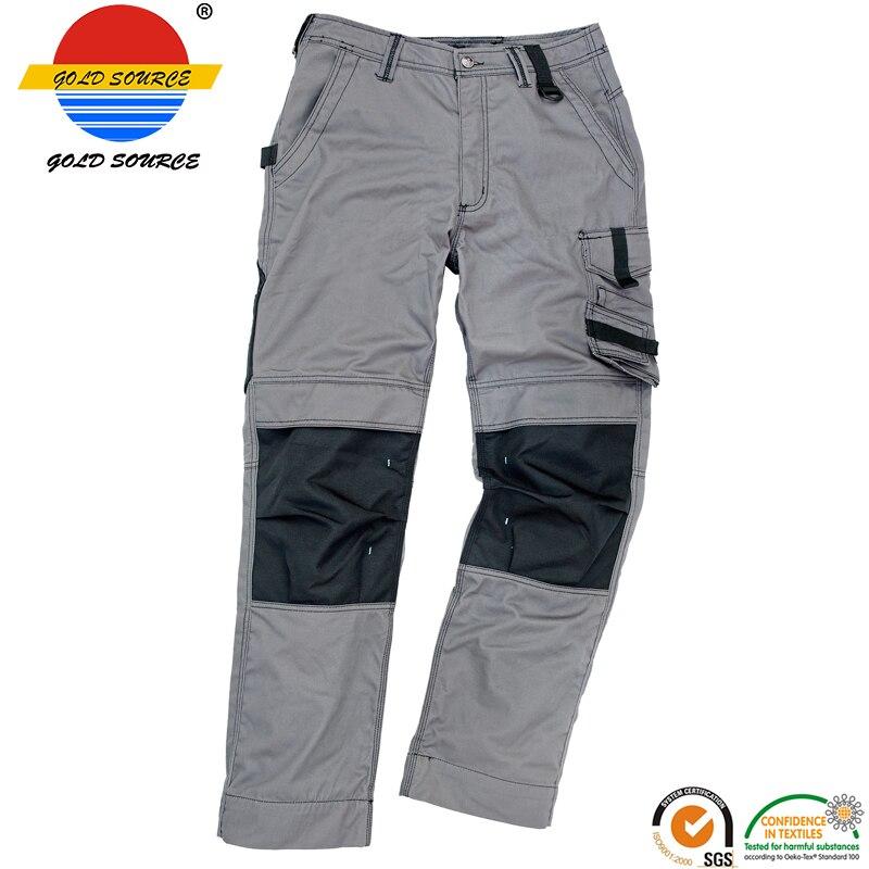 abebb35a59d0e4 New Sale Premium Worker Mechanic Trousers YKK Zippers Grey Workwear Cargo  Pants for Men
