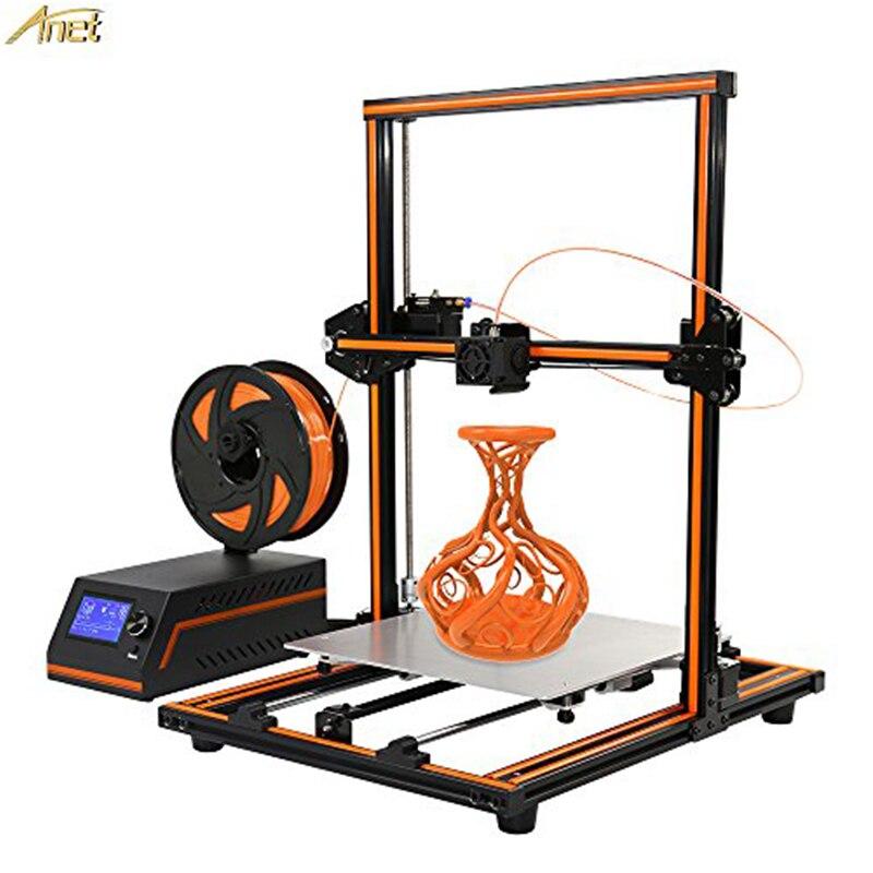 3 d imprimante Anet 3D E12 pas cher imprimantes 3D cadre métallique imprimante 3d Machine Reprap Prusa i3 3d Kits d'imprimante Semi assembler Filaments