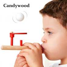 New Exotic Funny Floating Ball Blow Ball Game Wooden toys Suspension ball Toy Birthday Gift For