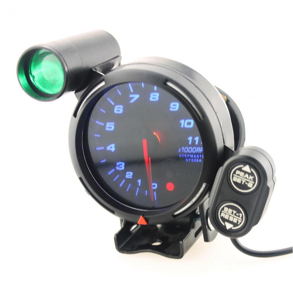 3.75 Inch 12v Car Tachometer Gauge Kit 11000 Rpm Blue Led With Shift Light Universal Speed Tachometer Gauge Kit