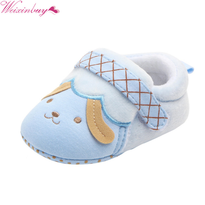 Toddlers Cartoon Animation Baby Girl Cotton Fabric Soft Sole Baby Shoes Baby Boy Comfortable Anti-slip First Walkers